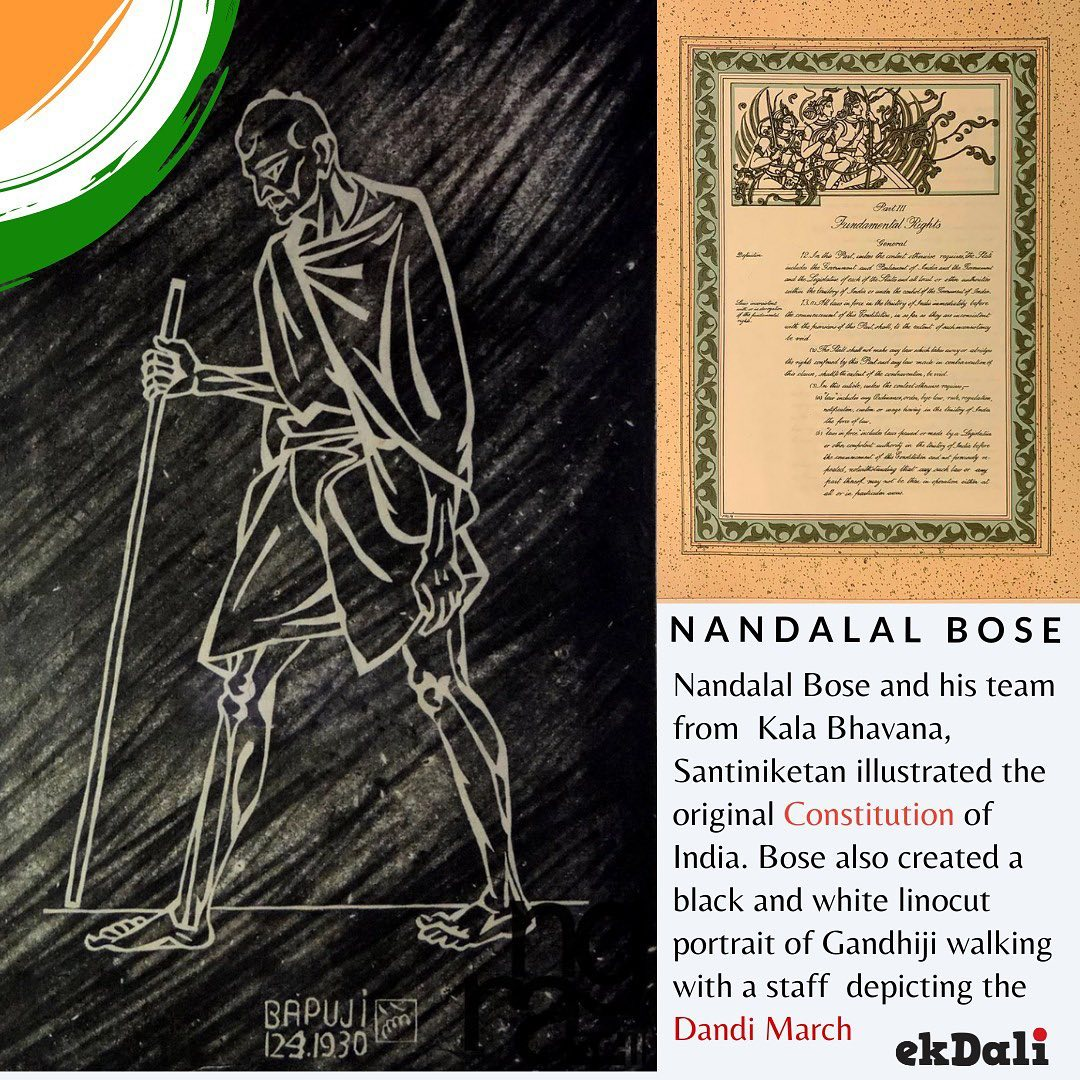 Nandalal Bose also illustrated the original handcrafted Constitution of India