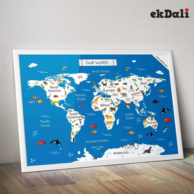 Cute World Map for Kids