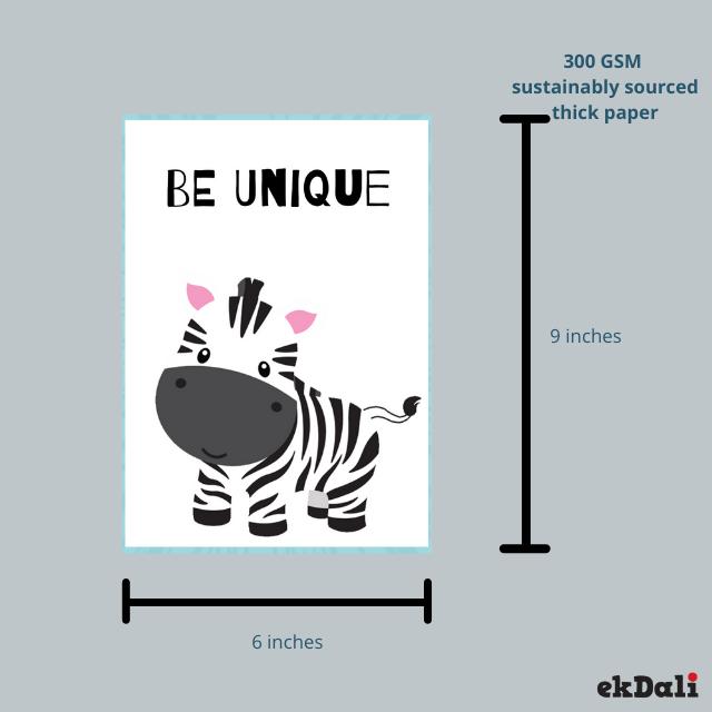 Animal Prints Motivational Message for Nursery ( Set of 6)