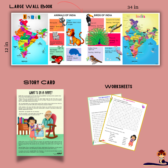Foldable Poster on India for Kids