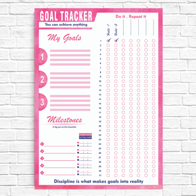 Goal Tracker Pink
