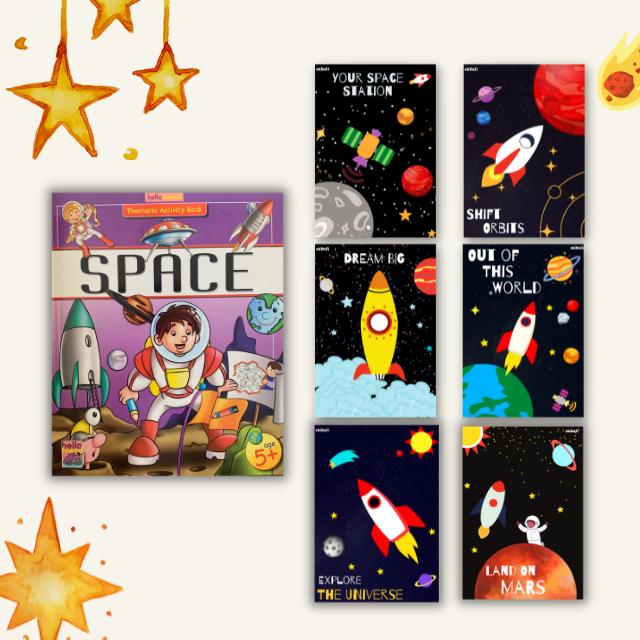 Ekdali Space Themed Bok for Kids