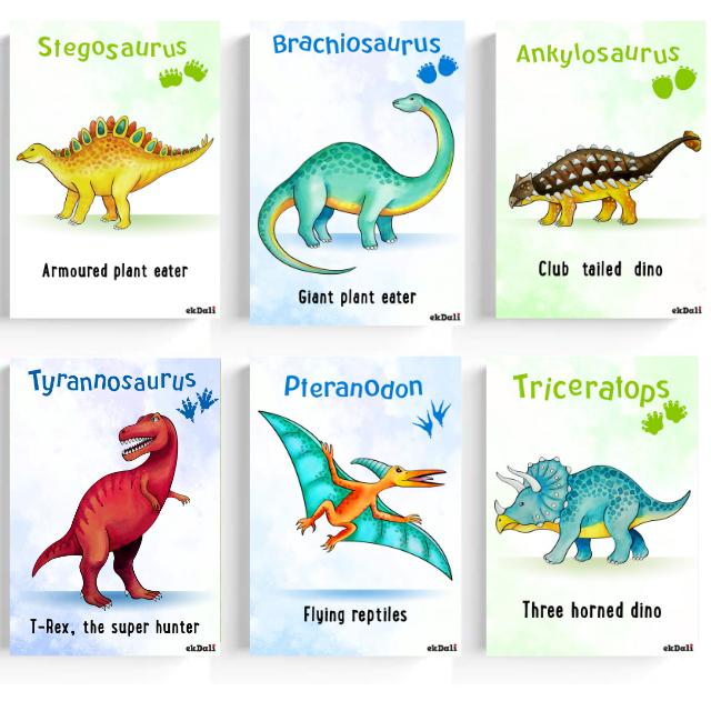 Dinosaur Wall Poster for Kids