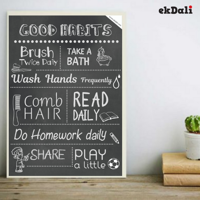 Good Habits Poster