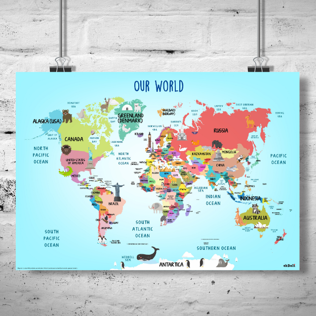 Fun World Map With Countries