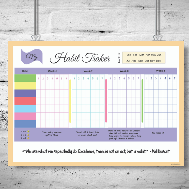 Habit Tracker Purple
