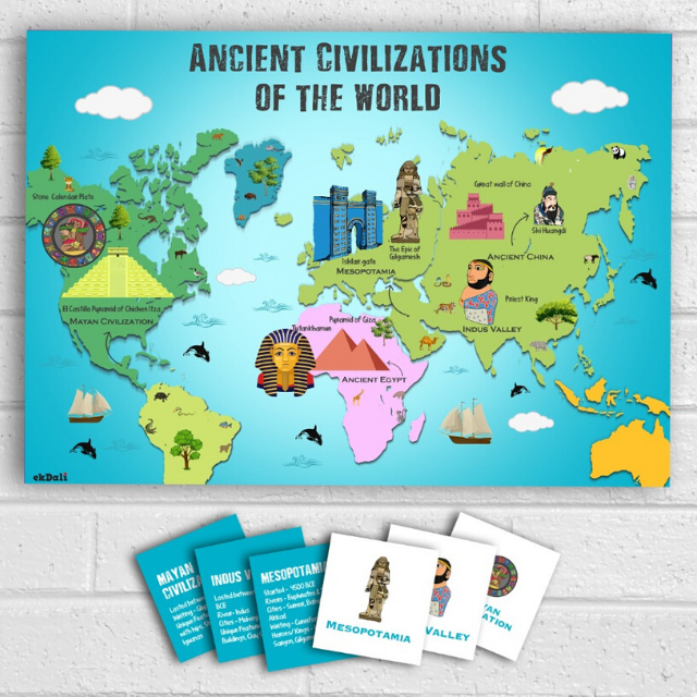 Ancient Civilizations Marked on a map