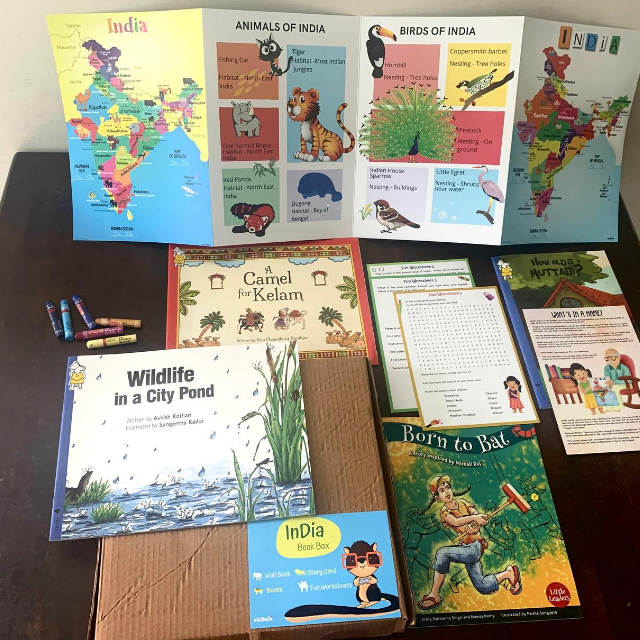 India Book Box (Books, Wallbook, Worksheets and more)