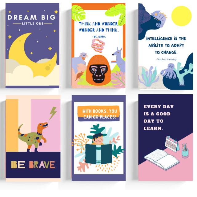 Motivational Message for Kids ( Set of 6)