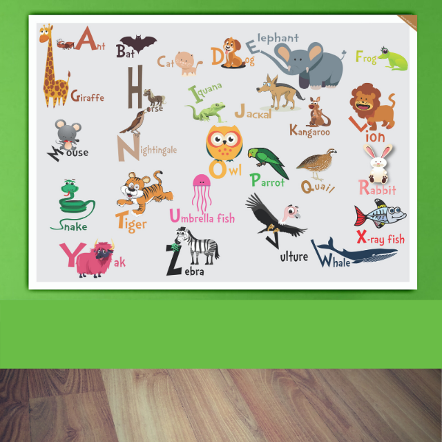 Alphabet chart with Animals